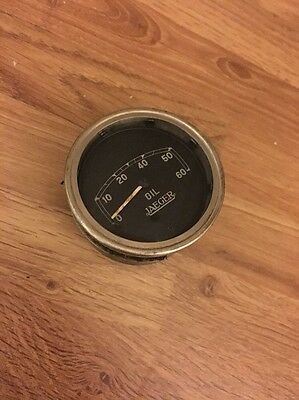 Pre War Classic Car Jaeger Oil Gauge