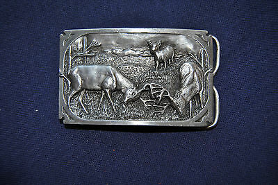 Siskiyou Buckle Co. Dueling Bucks A-27 1983 In Very Good Condition