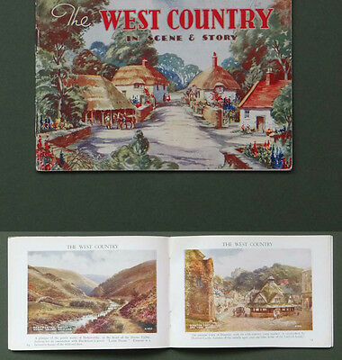The West Country scene & Story.Valentines postcards picture souvenir book 1930s