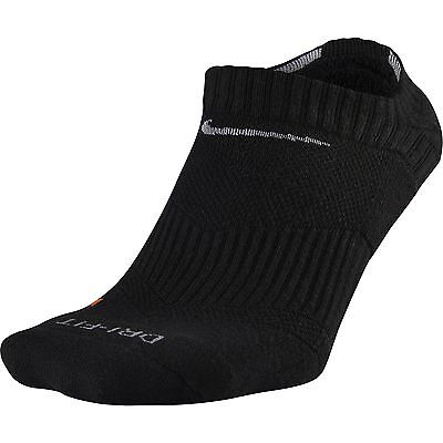 NEW Nike Dri-Fit Performance No-Show Black Socks Men's Large