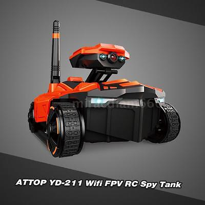 ATTOP YD-211 Wifi FPV 0.3MP Camera S py Tank RC Toy Phone Controlled Robot R9L3