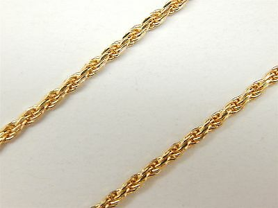 """Beautiful Italian 14k Solid Gold Diamond Cut Rope Link Chain Necklace 18"""""""