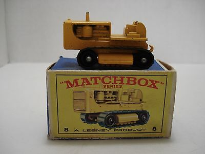 Matchbox Caterpillar  Tractor # 8-D  With Box Made In England 1964 Vintage