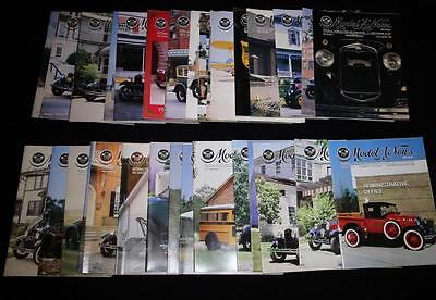 Ford Model A News Magazine~Lot of 36~1980s-1990s~Car~Restorers Club~MARC~How To