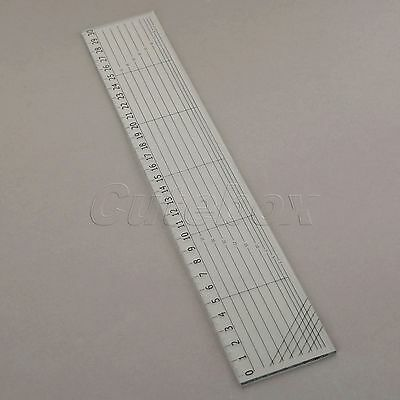 "Home Sewing Projects Quilting Patchwork Ruler Plastic Tailor Scale 11.81""x1.97"""