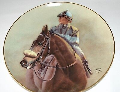 "Fred Stone Painting ""John Henry"" Plate Horse Racing Collectible China #1492"