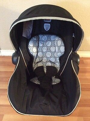 Britax B-safe Infant Car Seat Cushion Cover Canopy Straps Cover Black Silver