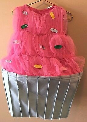 Frosted Cupcake Halloween Costume Girls Kids size 14-16? VGUC Sweet Eats TB