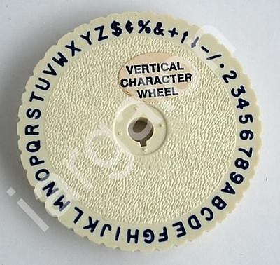 "DYMO Type Wheel 2-7/16"" Vertical Character USED Letter Embossing Label Maker"