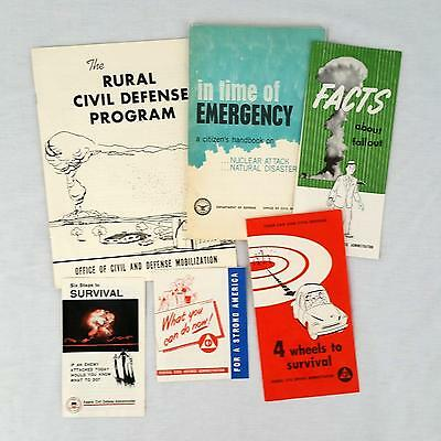 Cold War Civil Defense Nuclear Atomic Attack Fallout Booklet Pamphlets 1955-1969