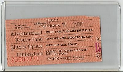 Vintage Walt Disney World Magic Kingdom Junior B Ticket - Frontierland Keel Boat