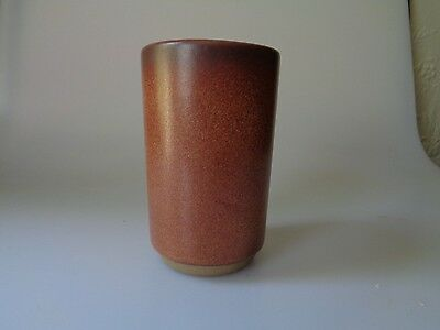 """Heath Ceramics Of Sausalito Brown Tumbler 5"""" Inches Tall Speckled Good Condition"""