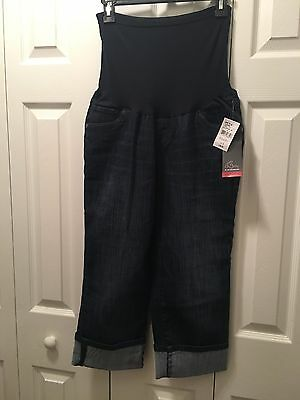 Oh Baby by Motherhood Maternity Jean Capris Size Large NWT
