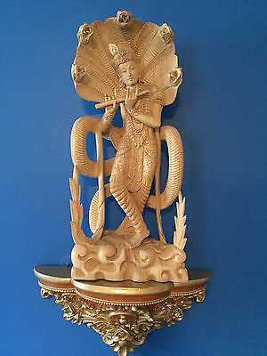 Masterpiece Balinese Wood Hand Carved Krishna Statue