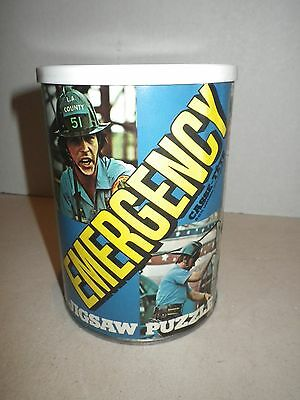"""Vintage 1975 TV Show EMERGENCY Jigsaw Puzzle 200 Pieces """"Hook and Ladder"""" - RARE"""