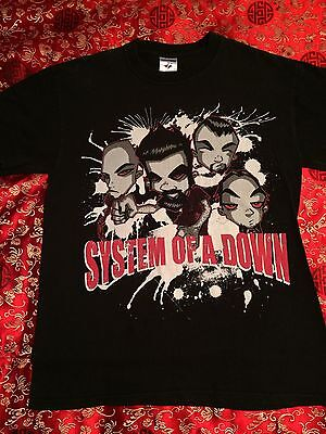 Vintage SYSTEM OF A DOWN Rock Band T-Shirt Size Small CLEAN! NEXT DAY SHIPPING!.