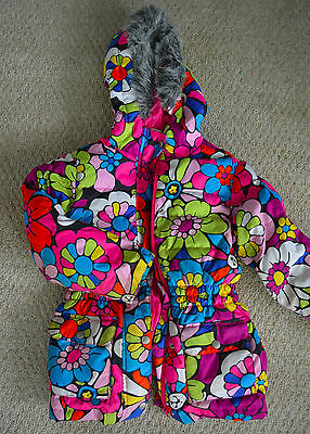 HANNA ANDERSSON Puffer Jacket Winter Coat DOWN FILLED Girls Hooded Size 120 #bm