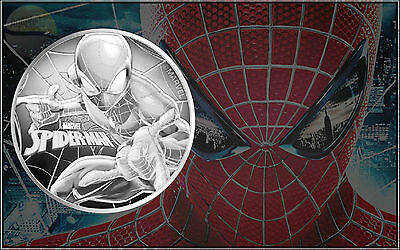 2017 Tuvalu Marvel Series Spider-Man BU 1 oz .999 Silver Round Bullion Coin