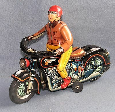 EXPERT MOTOR CYCLIST 1950's JAPAN by MASUDAYA TOYS   ( Working )