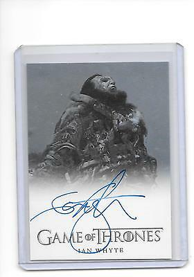Game of Thrones Season 6 Ian Whyte as Wun Wun Full Bleed Auto Autograph