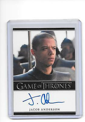 Game of Thrones Season 6 Jacob Anderson as Grey Worm Bordered Auto Autograph
