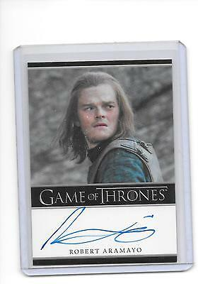 Game of Thrones Season 6 Robert Aramayo as Young Ned Stark Bordered Autograph