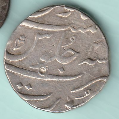 Mughal India - Mohammed Shah- Surat Mint - One Rupee - Rare Silver Coin