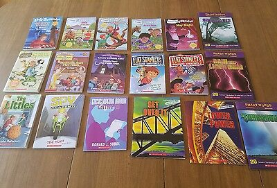Scholastic paperback book lot of 18 books, Calendar Mysteries, Flat Stanley