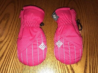 Infant Columbia Mittens Hot Pink One Size