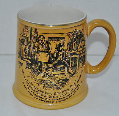 "Outstanding Vintage Old Foley James Kent ""The Way to Wealth, Wise Songs""Beer Mug"