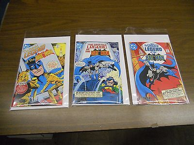 UNTOLD LEGENDS OF THE BATMAN #s 1, 2 & 3 Cereal Promotion 1989