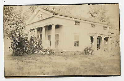 RPPC Coventry, N.Y. Old House With Pillars Photo Postcard