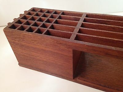 Viking TEAK Danish MID CENTURY Modern DESK ORGANIZER Letter File & Pen Holder