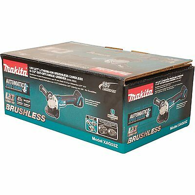 "Makita XAG06 18V 18 Volt Lithium Ion 4-1/2"" Paddle Switch Right Angle Grinder"