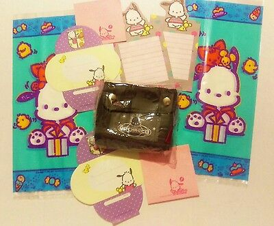 RARE Vintage 1989 2000 Sanrio Smiles Dog Pochacco Lot Wallet Coin Bag Mini Paper