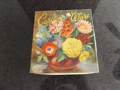 Carlton Ware butter dish and spoon in original box