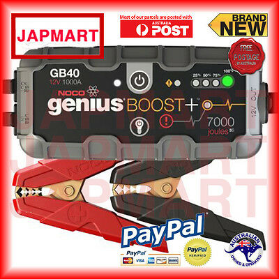 NOCO BOOST GB40 12v Booster 1000AMP Car Battery FREE POSTAGE AUST WIDE