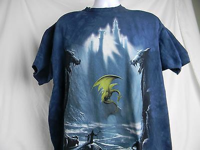 Lost Valley Dragon Cave Castle Fantasy Art The Mountain T-Shirt All Sizes 1298