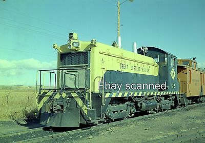 Great Western GW Railway SW9 #122 Diesel Color Negative Johnstown CO 1968
