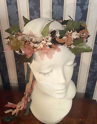 Women's Girls Vintage Headband Crown Wedding Bridal Hair Wreath  Floral Garland
