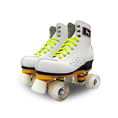 Adults Outdoor Indoor Quad Roller Skates Boots Shoes Double Line Skating Shoes