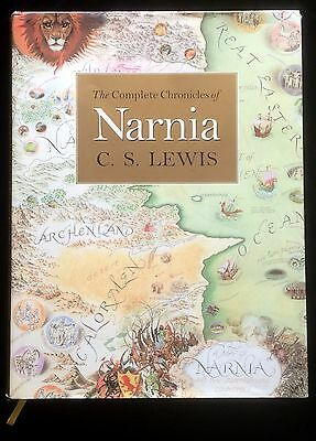 The Complete Chronicles of Narnia CS Lewis Original Art HC DJ Gift Edition 2000