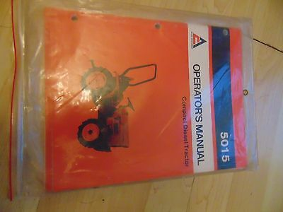 Allis-Chalmers Operator Manuals 5015 Compact Diesel Tractor And Rotary Mower #63