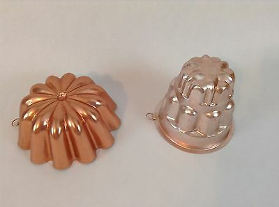 Set 2 Copper Colored Jelly Mold Flower Aspic Loops Jell-O Candle Hanging Craft