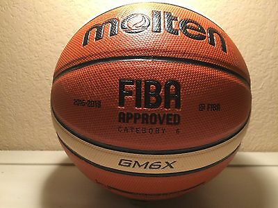Molten GM6X Basketball BGM6X Composite Leather FIBA-Approved Women size 6 28.5