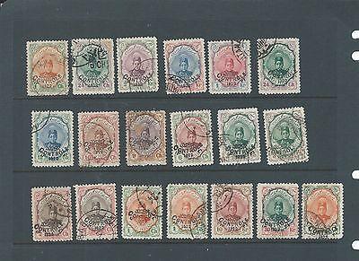 Persia early Shah selection of fine used stamps with CONTROLE ovpt