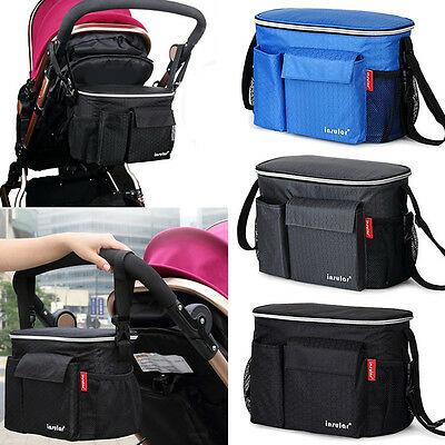 Baby Stroller Pushchair Diaper Nappies Bag Mommy Bottle Organizer Hanging Bag BT