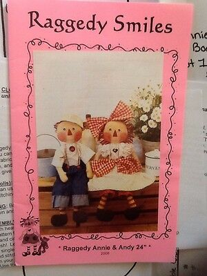 Raggedy Anne And Andy - 24 Inch Doll Pattern With Clothes