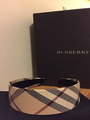 BURBERRY Nova Check Headband - Authentic