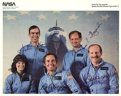 SPACE SHUTTLE MISSION STS-7 Signed Original NASA Photo - Autopen